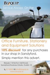 Bizquip Golf Advert