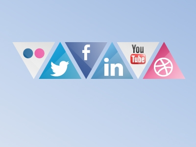 Triangle Social Icons